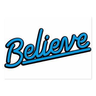 Believe in cyan business cards