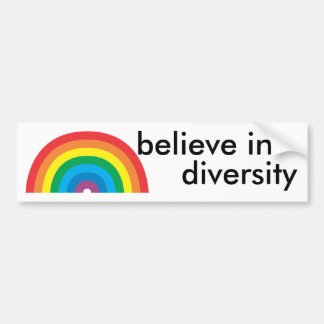 believe in diversity bumper sticker