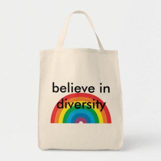 believe in diversity tote bag