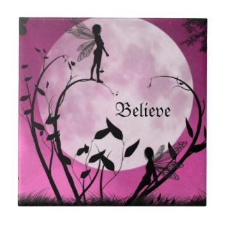 Believe in fairies tile