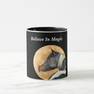 Believe in Magic Coffee Mug With Horse and Moon