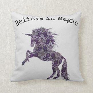 Believe in Magic Unicorn Cushion