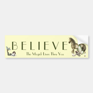 Believe in Magick Bumper Sticker