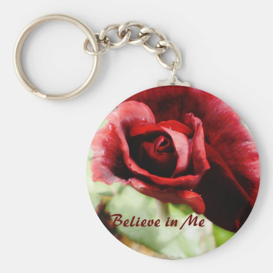 Believe in Me Basic Round Button Key Ring