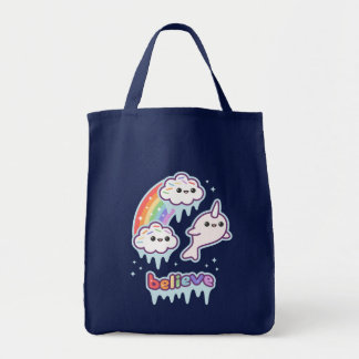 Believe in Narwhals Tote Bag