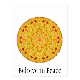 Believe in Peace Postcard