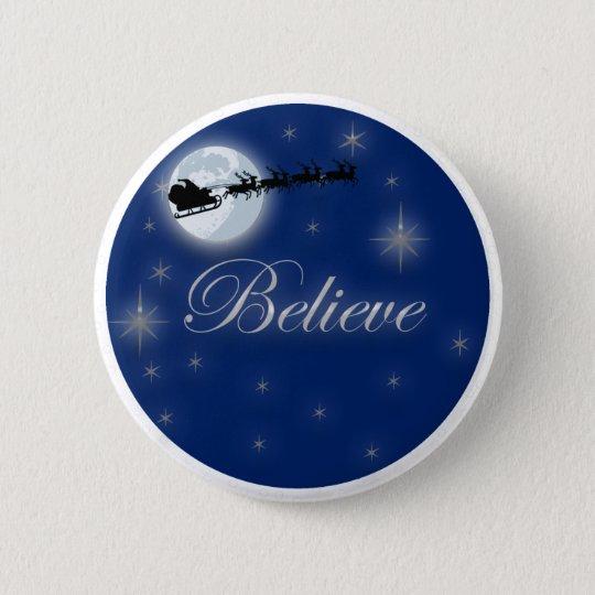 Believe In Santa 6 Cm Round Badge