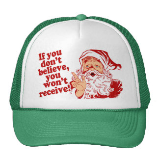 Believe in Santa Cap