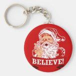 Believe In Santa Claus Keychain