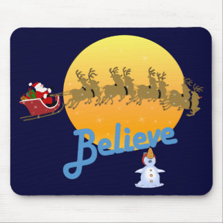 Believe In Santa Claus Mouse Mat
