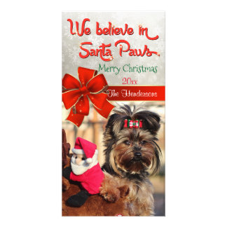 Believe in Santa Paws Photo Card
