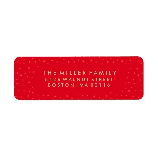 Believe In The Magic | Holiday Labels in Red