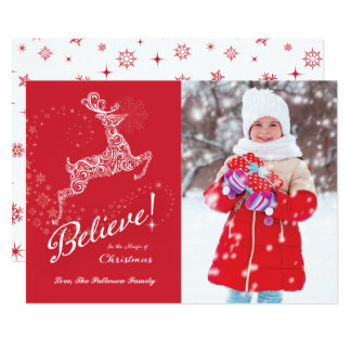 Believe in the Magic of Christmas Card, Reindeer 2 Card