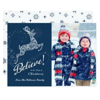 Believe in the Magic of Christmas Card, Reindeer 3 Card