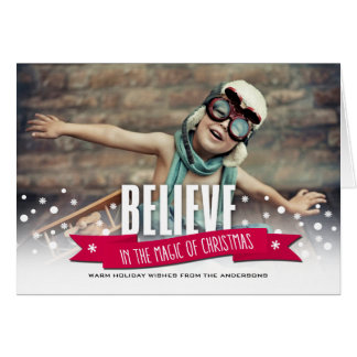 Believe in the Magic of Christmas Photo Cards