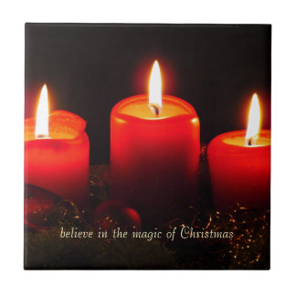 Believe in the Magic of Christmas Small Square Tile