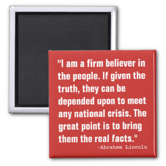 Believe in The People Square Magnet