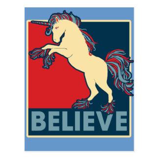 Believe in the Unicorn Postcard