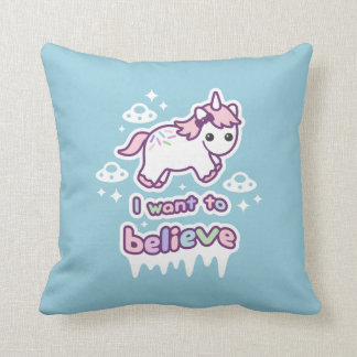 Believe in Unicorns and Aliens Cushion