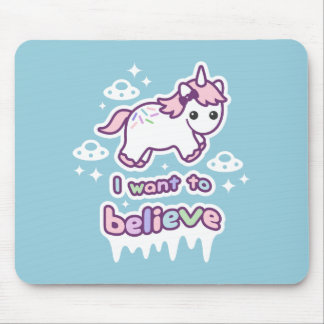 Believe in Unicorns and Aliens Mouse Mat