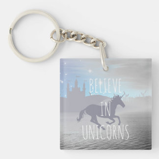 Believe in Unicorns Key Ring