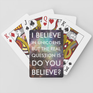 """BELIEVE IN UNICORNS"" STANDARD CARD DECK"