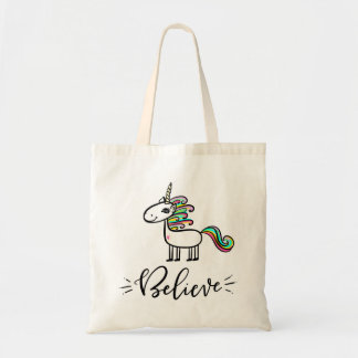 Believe in Unicorns Tote Bag