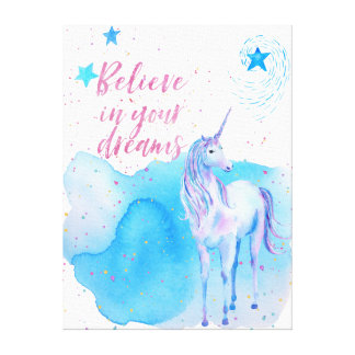 Believe in your dreams Unicorn Canvas Print