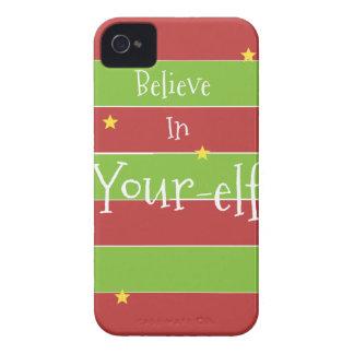 Believe In Your Elf Case-Mate iPhone 4 Cases