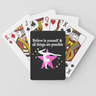 BELIEVE IN YOUR GYMNASTICS GOALS AND DREAMS PLAYING CARDS