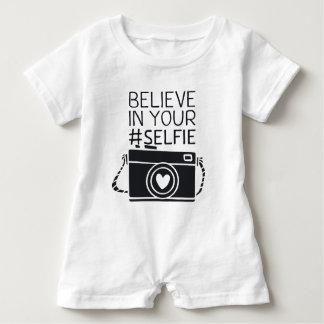 Believe in your #selfie baby bodysuit