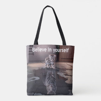 'Believe in yourself' All-Over-Print Tote Bag