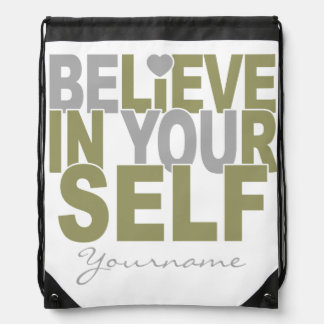 BELIEVE IN YOURSELF custom backpack