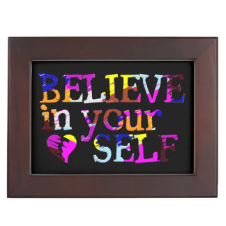 BELIEVE IN YOURSELF custom keepsake box