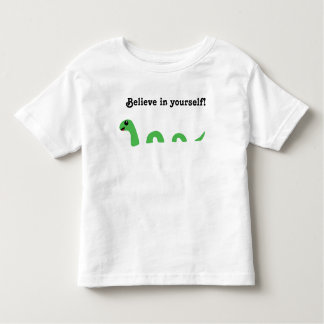 Believe in Yourself Cute Green Loch Ness Monster Toddler T-Shirt