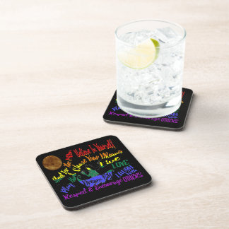 Believe in yourself Dream love set of coasters