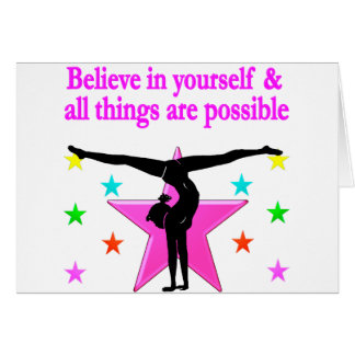 BELIEVE IN YOURSELF GYMNASTICS CARD