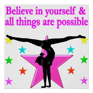 BELIEVE IN YOURSELF GYMNASTICS POSTER