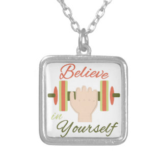 Believe In Yourself Square Pendant Necklace
