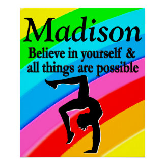 BELIEVE IN YOURSELF PERSONALIZED GYMNASTICS POSTER