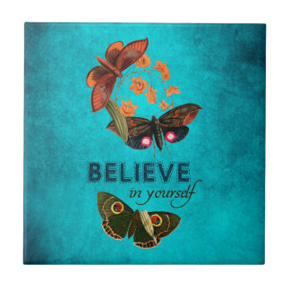 Believe In Yourself Small Square Tile