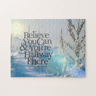 Believe In Yourself Winter Snow Motivational Quote Puzzle