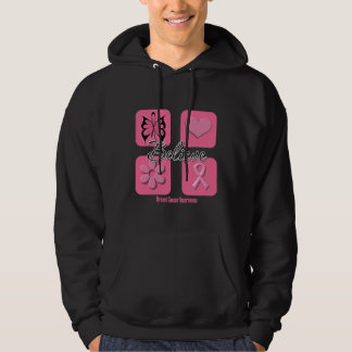 Believe Inspirations Breast Cancer Hooded Pullover