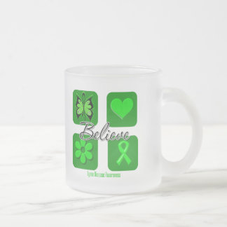 Believe Inspirations Lyme Disease 10 Oz Frosted Glass Coffee Mug