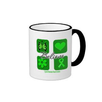 Believe Inspirations Lyme Disease Ringer Coffee Mug