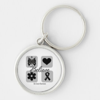 Believe Inspirations Skin Cancer Silver-Colored Round Key Ring