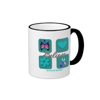 Believe Inspirations Thyroid Cancer Ringer Mug