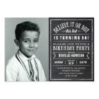 Believe it or Not Old Photo Birthday Party Invites