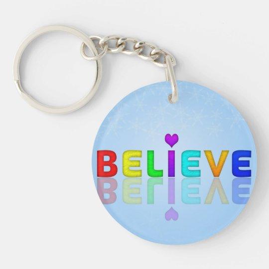 Believe Key Ring