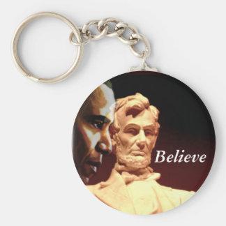 Believe_Keychain Basic Round Button Key Ring
